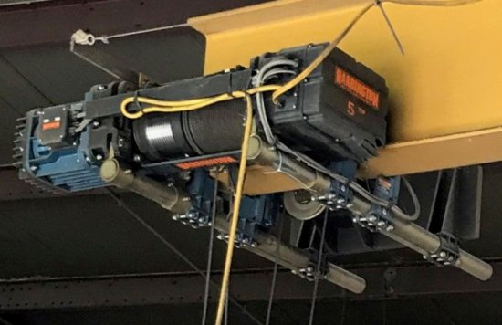 Harrington 5-Ton Trolley Hoist