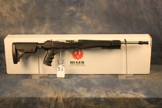 31. Ruger 10/22 Collapsible Stock, Muzzle Break & Rails SN:827-42288