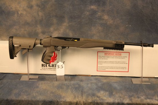 35. Ruger 10/22 Collapsible Stock, Muzzle Brake & Rails SN:824-36344