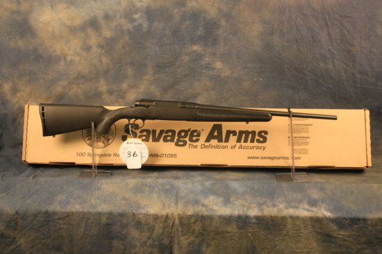 36. Savage Axis LH Youth .243 Black Syn. SN:H760339