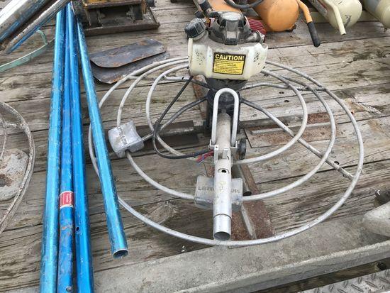 "LR Tools ""Power Pole"" Finisher, Honda 4-Stroke GS25 w/ Extra Blades & Wts"