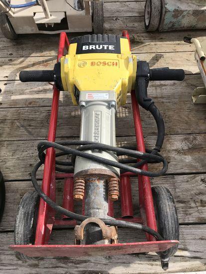 Bosch Brute Jackhammer w/ Cart & (2) Bits