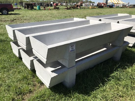 19. (6) 8' Concrete Feed Bunks New CN: 141 1