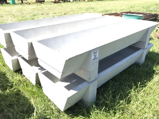 20. (6) 8' Concrete Feed Bunks CN: 1411