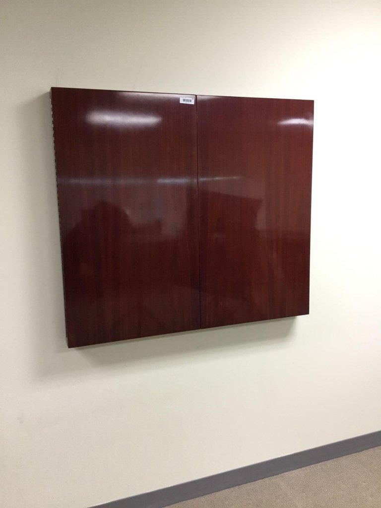 Executive Whiteboard Cabinet In Dark Cherry