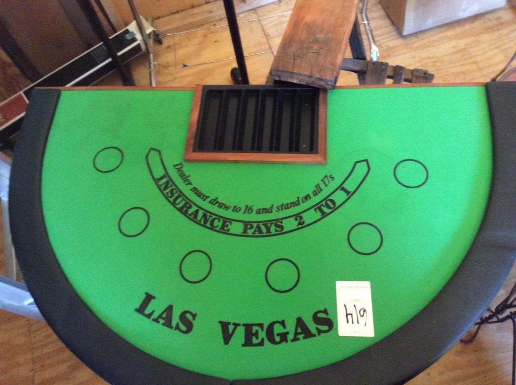 Las Vegas Blackjack Table Top ...