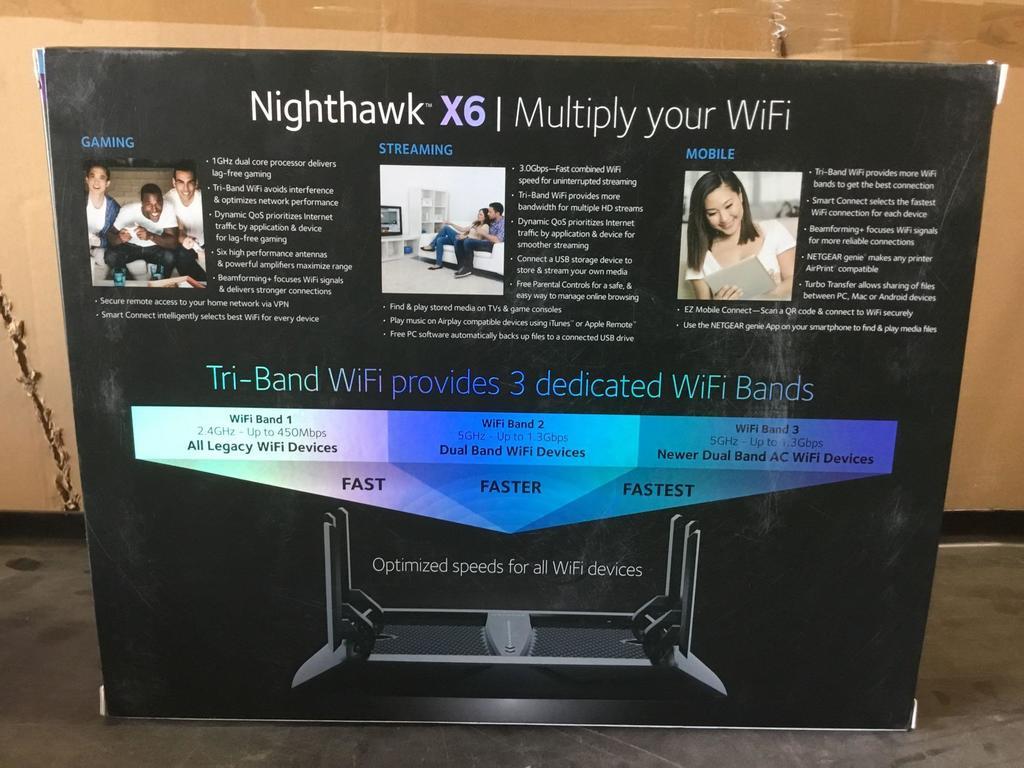 Lot: Netgear Nighthawk X6 AC3000 Tri-Band WiFi Router | Proxibid