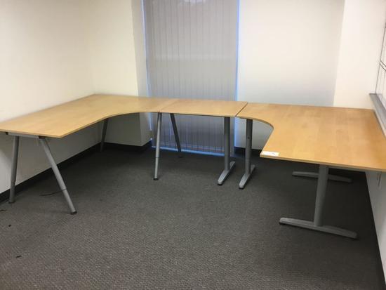 IKEA Galant U-Shaped Office De    Auctions Online | Proxibid