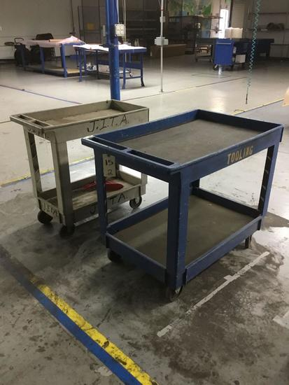 (2) Rolling Utility Carts