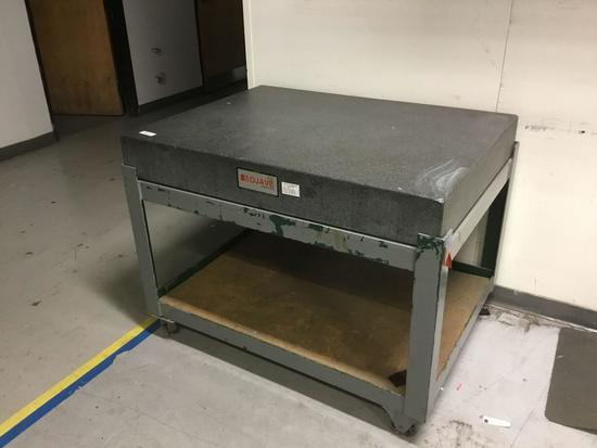 XL Mojave Granite Surface Plate On Rolling Cart