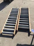 (2) 5 ft. x 1.5ft. Gravity Roller Conveyors