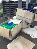 Lot of (3) Boxes Plastic Parts/Tool Storage Bins