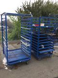 (2) Heavy Duty Metal Storage Racks