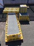 Lot of (2) Heavy Duty Industrial Steps and (1) Justrite Spill Kit Containment Unit