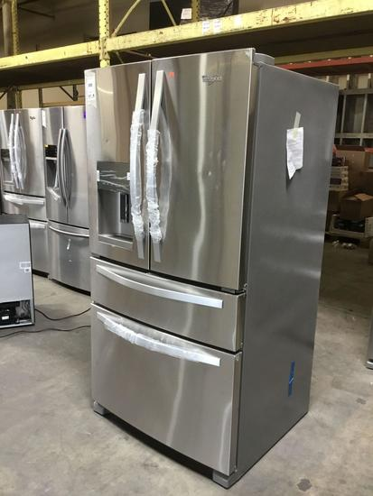 Whirlpool 36 in. Wide French Door Refrigerator with External Refrigerated Drawer**GETS COLD**