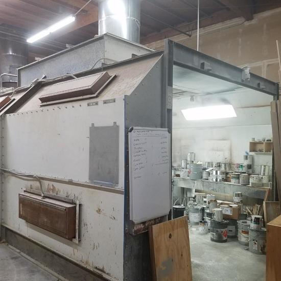Enclosed Industrial Spray booth