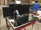 (4) Dell Professional 22 in. Widescreen LCD Flat Panel Monitors