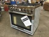 Technogas Superiore NEXT Panoramic Series 36 in. Freestanding Gas Range