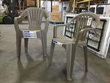 (4) Adams Low Back Chairs
