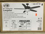 Hampton Bay Langston 60 in. Indoor Oil-Rubbed Bronze Ceiling Fan