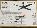 Home Decorators Mercer 52 in. Indoor Matte Black Ceiling Fan