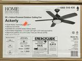 Home Decorators Ackerly 52 in. LED Indoor/Outdoor Natural Iron Ceiling Fan