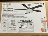 Home Decorators Lindbrook 52 in. Indoor Brushed Nickel Ceiling Fan