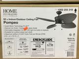Home Decorators Pompeo 52 in. Integrated LED Indoor/Outdoor Ceiling Fan