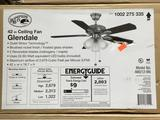 Hampton Bay Glendale 42 in. LED Indoor Brushed Nickel Ceiling Fan