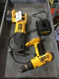(2) Dewalt Reciprocating Saw and Power Drill