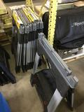 (7) Plastic Heavy Duty Adjustable Sawhorses
