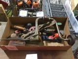 Box of A Variety of Vintage Wood working Tools