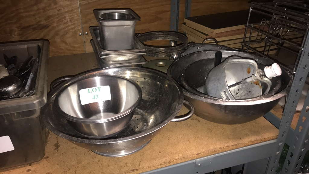 Miscellaneous stainless steel lot