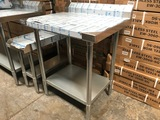 Work Table w/ Splash Guard NEW