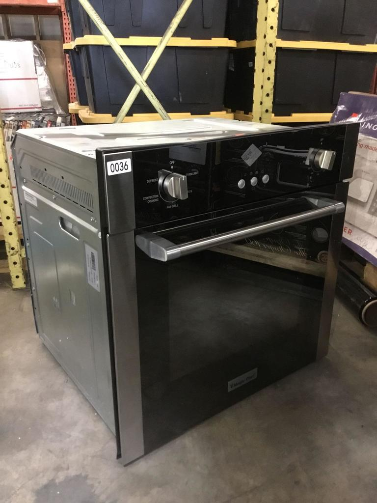 Magic Chef 24in. 2.2cu. ft. Single Electric Wall Oven with Convection in Stainless Steel