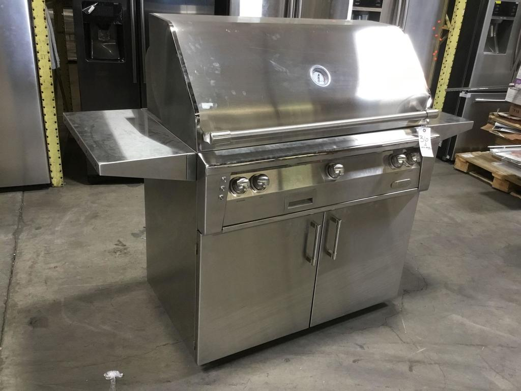 Alfresco Alxe Stainless Steel 42in. Outdoor Propane Barbecue Grill With Rotisserie