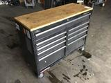 Husky 9 Drawer Mobile Workbench With Butcher Block Top