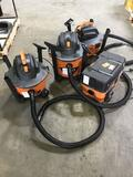 (4) Ridgid Wet/Dry Vacuums