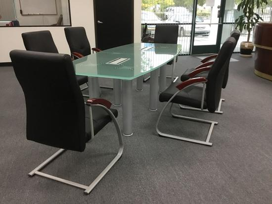 8ft. Clearwater Conference Table and (6) Denmark Guest Chairs
