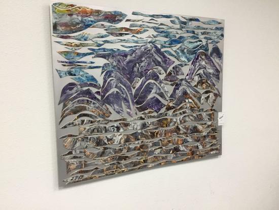 Large Art Work on Metal Sheet