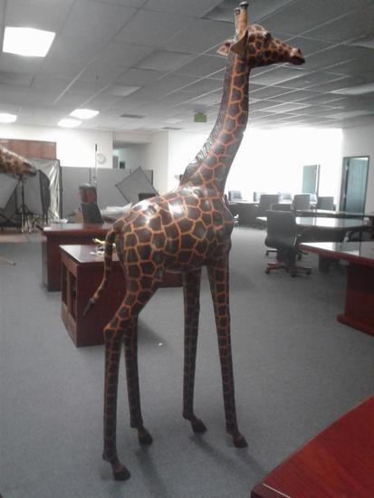 Large Handmade Paper-Mache Giraffe