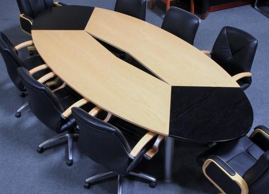 10ft. Miami Natural Maple Racetrack Shape Conference Table