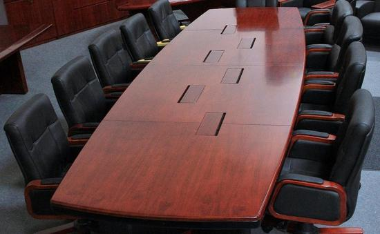 18ft. Los Angeles Enriched Walnut Boat Shape Conference Table