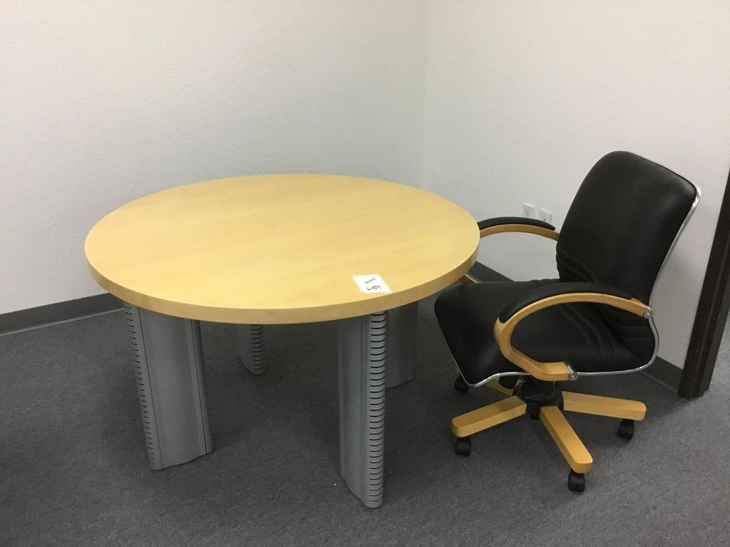 47in. San Francisco Meeting Table and a Palo Alto Mid-Back Chair