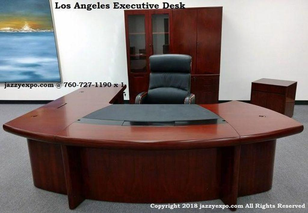 Los Angeles 9 Executive Desk Right And Sacramento High Back Chair Computers Electronics Computers Accessories Desktops All In Ones Auctions Online Proxibid