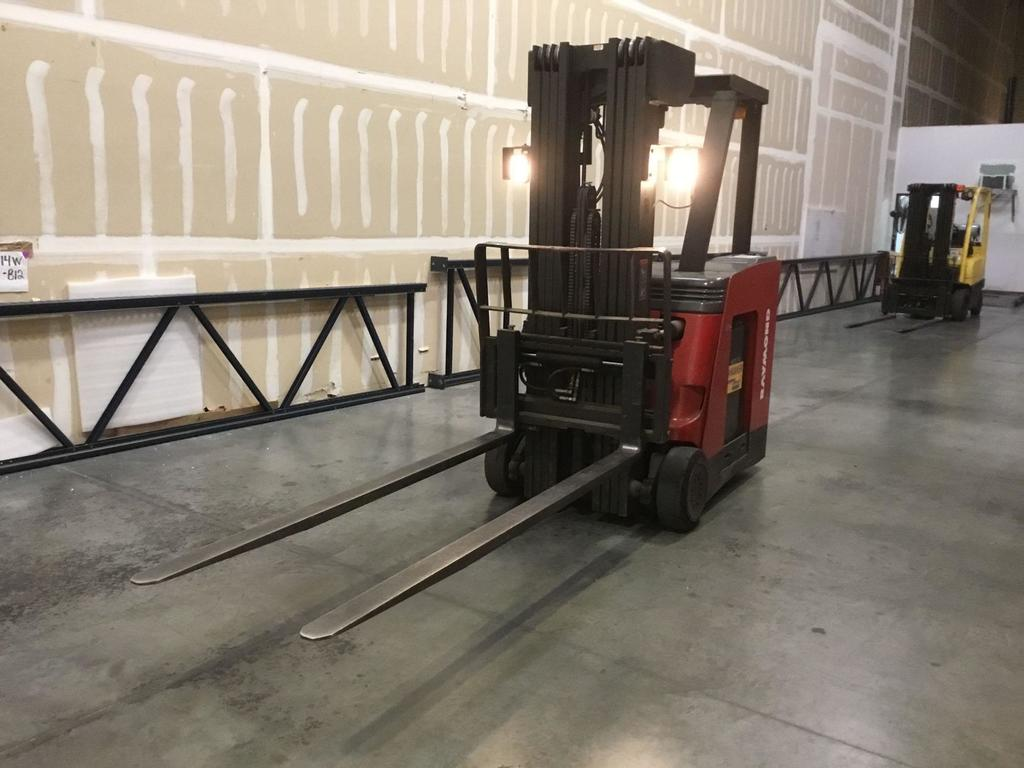 Raymond 3500 lb. Capacity Stand-Up Electric Forklift w/ 7 ft. Forks and Charger