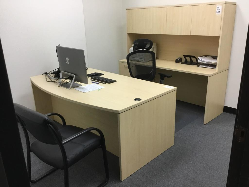 Desk, Cabinet, Chair and Guest System Set