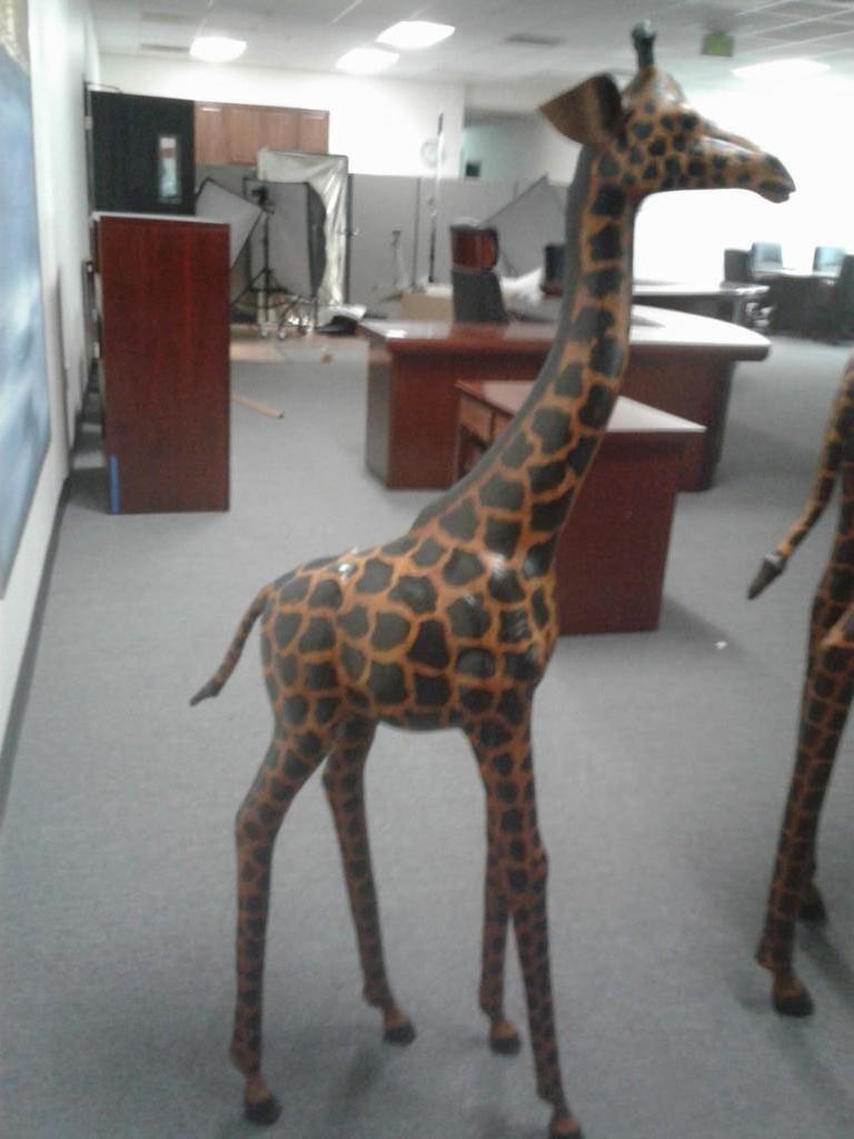 Baby Handmade Paper-Mache Giraffe