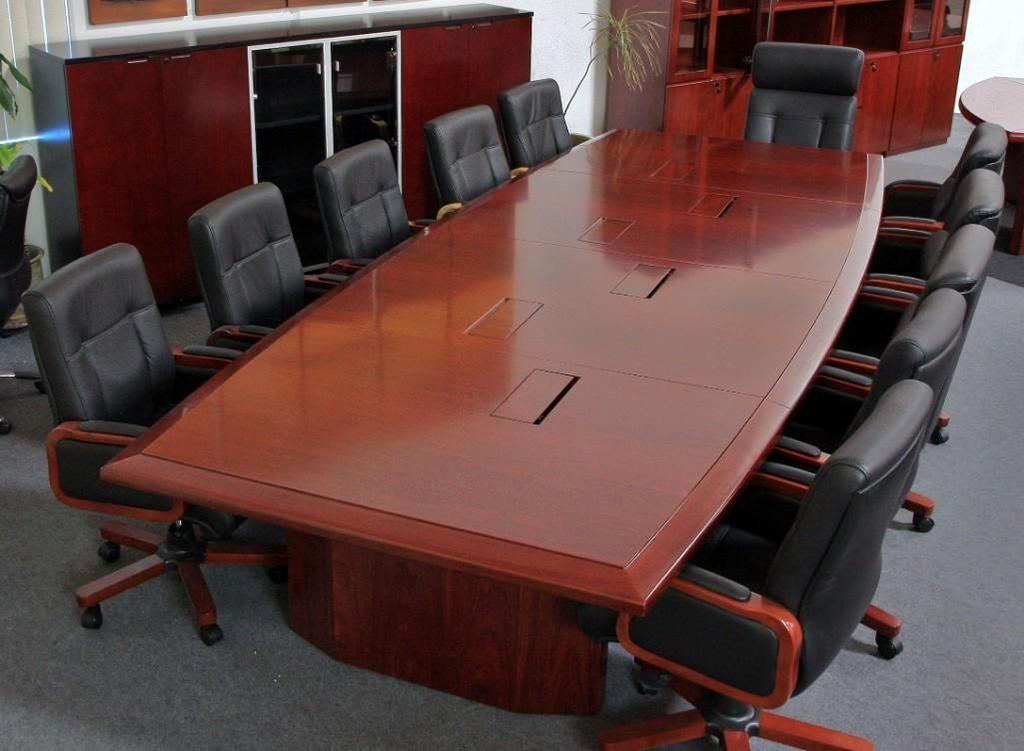 Baltimore 16ft. Enriched Walnut Boat Shape Conference Table