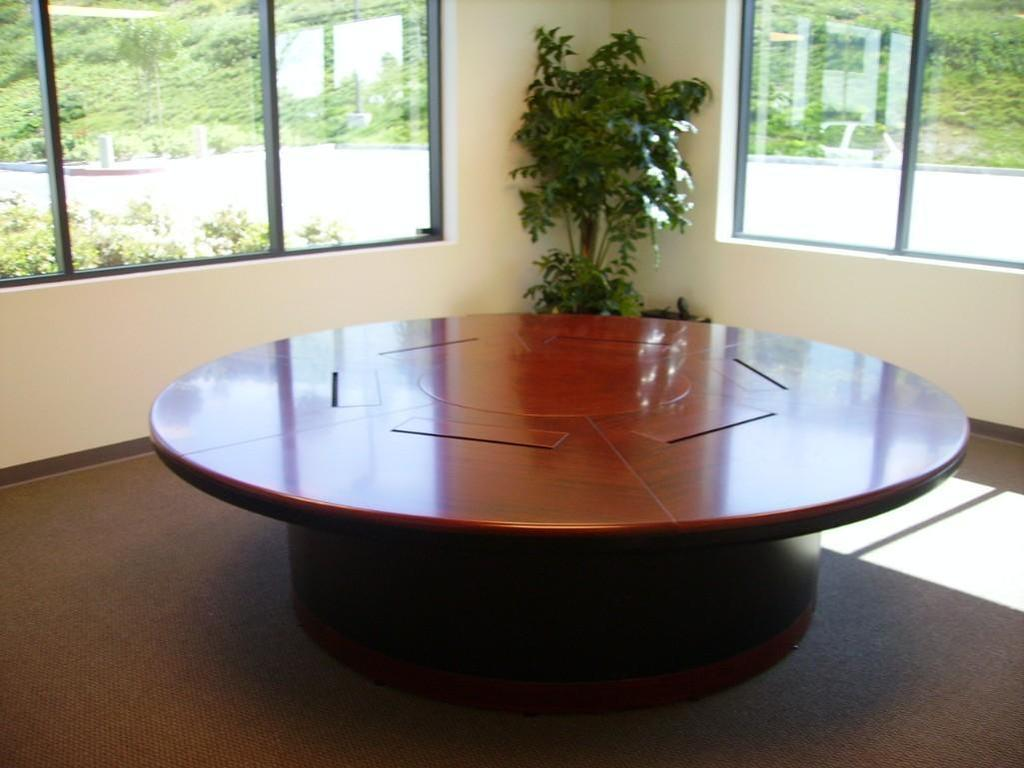 Atlanta 10ft. Enriched Walnut Round Table
